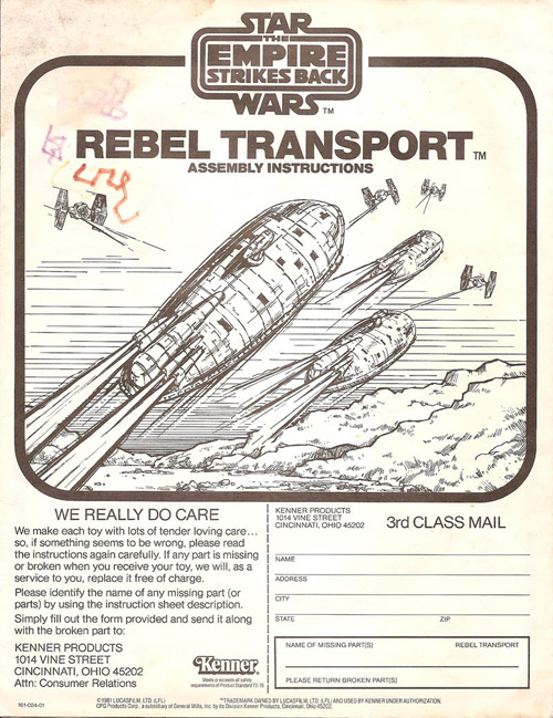 Rebel Transport Assembly Instructions
