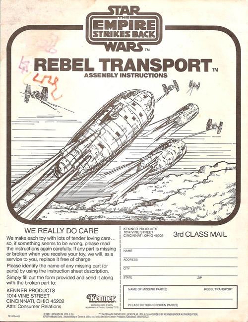Rebel Transport Assembly Instructions