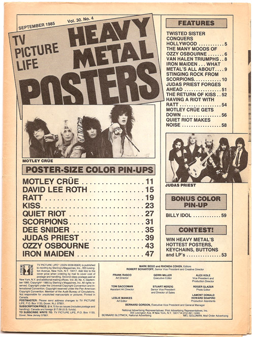 Heavy Metal Posters, page 1