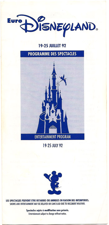 EuroDisney Brochure